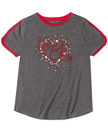 Big Girls Love Dolphin-Sleeve T-Shirt