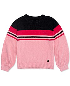 Big Girls Striped Chenille Sweater