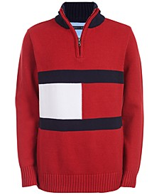 Big Boys Ross 1/4-Zip Logo Sweater