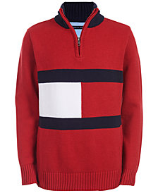 Tommy Hilfiger Toddler Boys Ross 1/4-Zip Logo Sweater