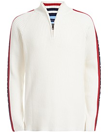 Big Boys Samuel 1/4-Zip Logo Sweater