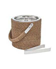 Godinger Rope Ice bucket W/ Tongs