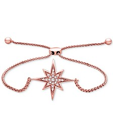 Diamond Compass Rose Bolo Bracelet (1/10 ct. t.w.) in 14k Rose Gold