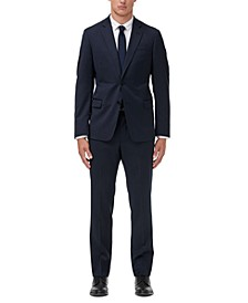Men's Modern-Fit Navy Solid Suit Separates