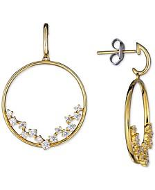 Diamond Scatter Drop Hoop Earrings (1/2 ct. t.w.) in 14k Gold