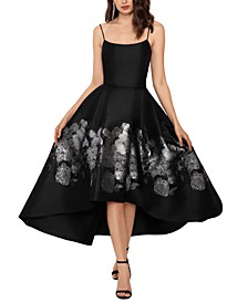 Brocade High-Low Ball Gown