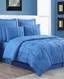Luna Pintuck 4-Piece Full Comforter Set