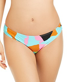 Juniors' Floral Camo Printed Bikini Bottoms, Created for Macy's