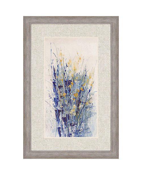 """Paragon Indigo Floral II Framed Wall Art, 42"""" x 28"""""""