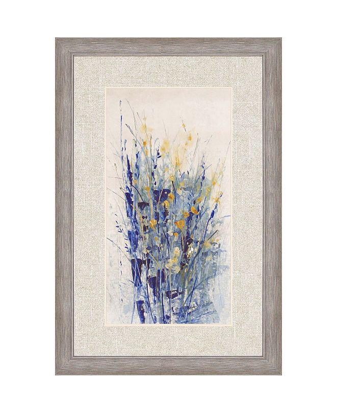 "Paragon Indigo Floral II Framed Wall Art, 42"" x 28"""
