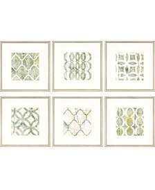 "Paragon Metric Link Framed Wall Art Set of 6, 22"" x 22"""
