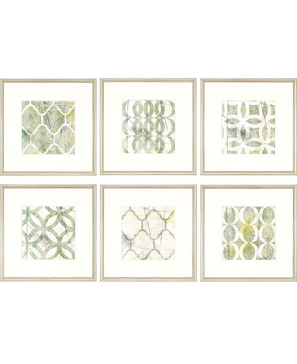 "Paragon Metric Link Framed Wall Art Set of 6, 22"" x 22"""