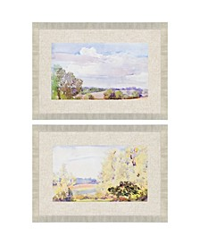 "Placid and Repose Framed Wall Art Set of 2, 24"" x 34"""