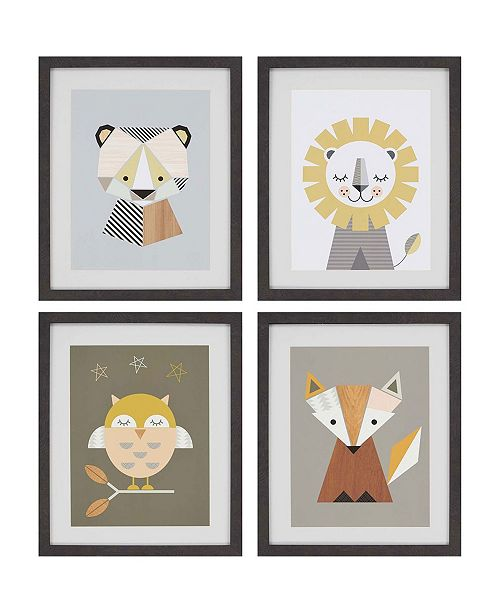 "Paragon Zoo Framed Wall Art Set of 4, 22"" x 18"""