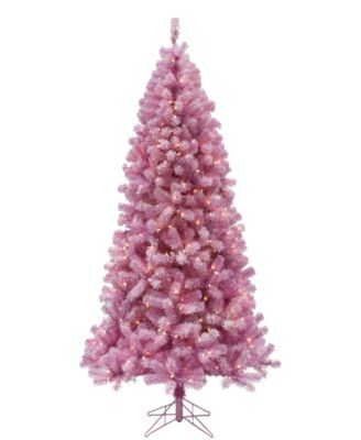 5' Pre-lit Light Pink Christmas Tree with Clear LED Lights