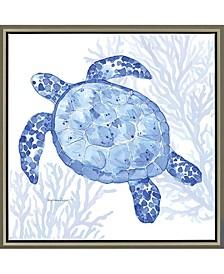 """Ocean Turtle Framed Wall Art, 39"""" x 39"""""""