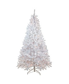 6' Pre-Lit Flocked Snow White Artificial Christmas Tree - Clear Lights