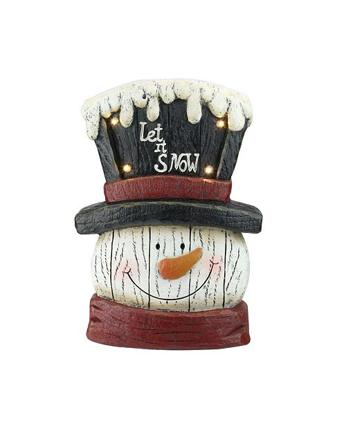 "Northlight 13"" Pre-Lit LED Snowman Weathered Table Top Christmas Decoration"