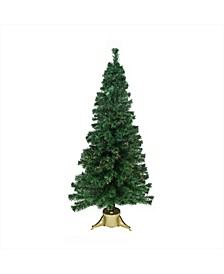 Pre-Lit Color Changing Fiber Optic Artificial Christmas Tree - Multi Lights
