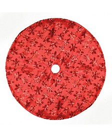 "20"" Red Sequin Snowflake Pattern Mini Christmas Tree Skirt"