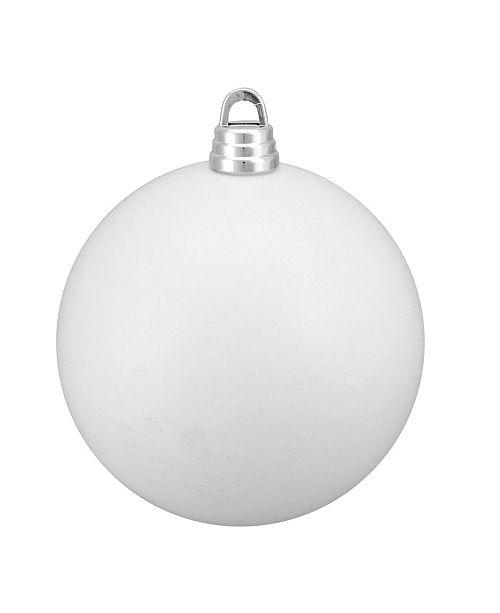 "Northlight Winter White Shatterproof Matte Christmas Ball Ornament 12"" 300mm"