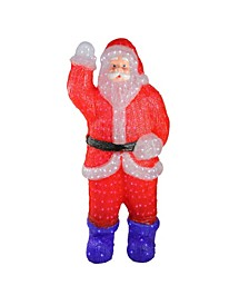 3.75' Lighted Commercial Grade Acrylic Santa Claus Christmas Display Decoration