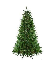 7.5' Pre-Lit Waterton Spruce Slim Artificial Christmas Tree - Clear Lights