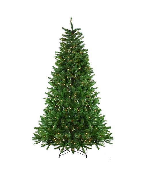 Northlight 7.5' Pre-Lit Waterton Spruce Slim Artificial Christmas Tree - Clear Lights