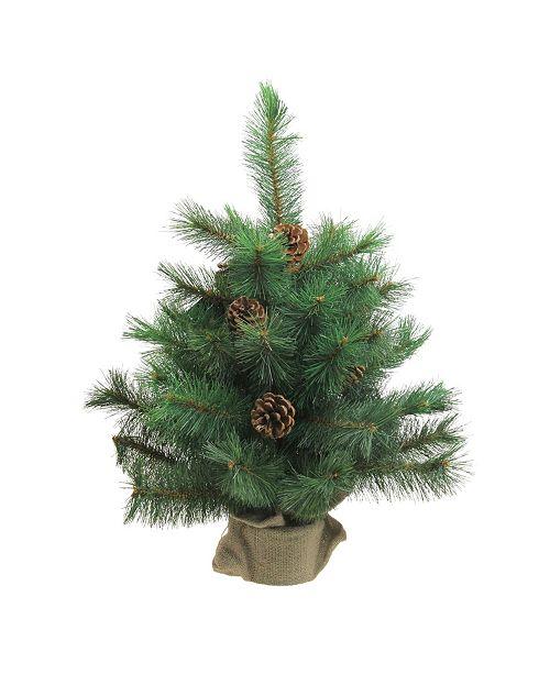 "Northlight 18"" Royal Oregon Pine Artificial Christmas Tree in Burlap Base - Unlit"