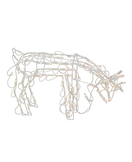 """Northlight 25"""" Standing and Grazing Lighted Reindeer Outdoor Christmas Decoration"""