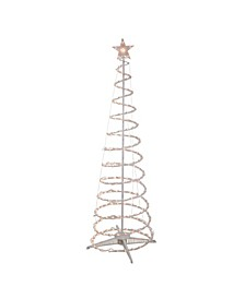 6' Clear Lighted Spiral Cone Tree Outdoor Christmas Decoration