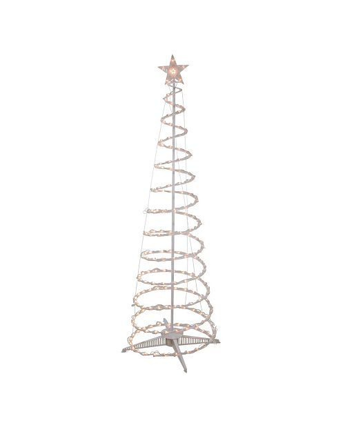 Northlight 6' Clear Lighted Spiral Cone Tree Outdoor Christmas Decoration