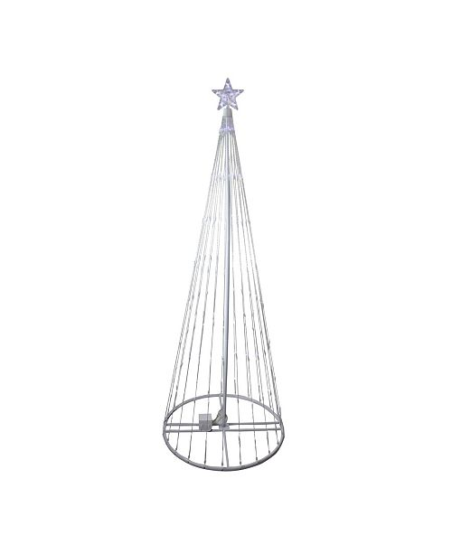 Northlight 6' Pure White LED Lighted Cone Tree Outdoor Christmas Decoration