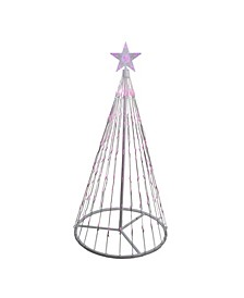 4' Pink LED Lighted Show Cone Christmas Tree Outdoor Decoration