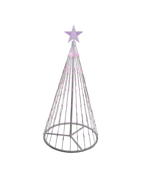 Northlight 4' Pink LED Lighted Show Cone Christmas Tree Outdoor Decoration