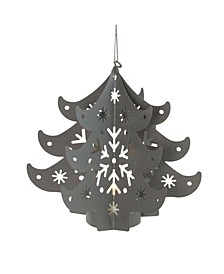 Prelit Cut Out Tree Christmas ornament