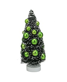 "8.5"" Green Sisal Christmas Tree with Ornaments Table Top Decoration"