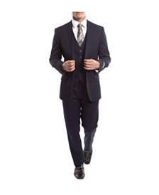 Tazio Men's Slim Fit Solid Notch Lapel Suit