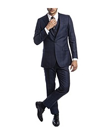Men's Hybrid Glen Plaid Peak Lapel Suit