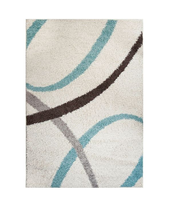 Nicole Miller  Synergy Quill Shag White Area Rug Collection