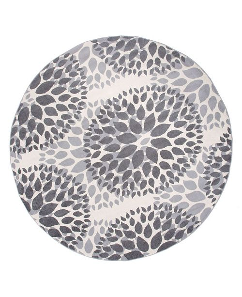 "Main Street Rugs Home Haven Hav9099 Gray 6'6"" Round Area Rug"