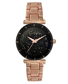 Women's Crushed Crystal Rose Gold Tone Bracelet Watch 32mm