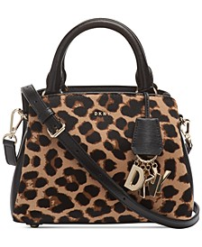 Paige Small Leopard Satchel, Created for Macy's
