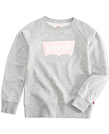 Big Girls Chenille Logo Sweatshirt