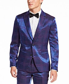 INC Men's Slim-Fit Iridescent Plaid Blazer, Created For Macy's