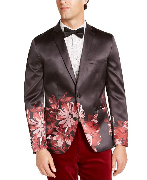 INC International Concepts INC Men's Slim-Fit Floral Blazer, Created For Macy's