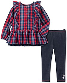 Baby Girls 2-Pc. Peplum Plaid Tunic & Jeggings Set
