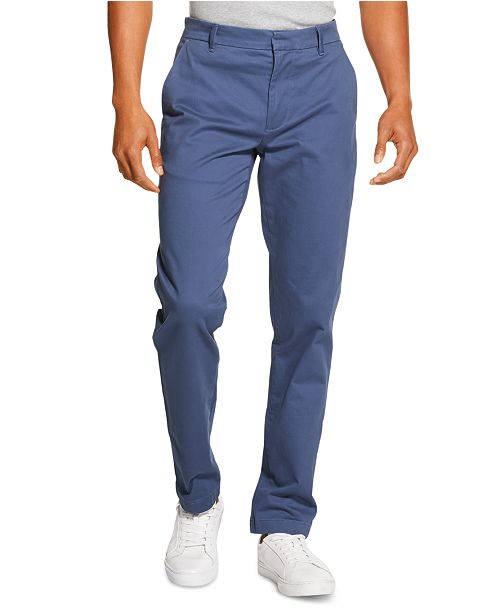 DKNY Men's Bedford Slim-Straight Fit Performance Stretch Sateen Pants