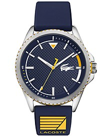 Men's Cap Marino Blue Silicone Strap Watch 44mm