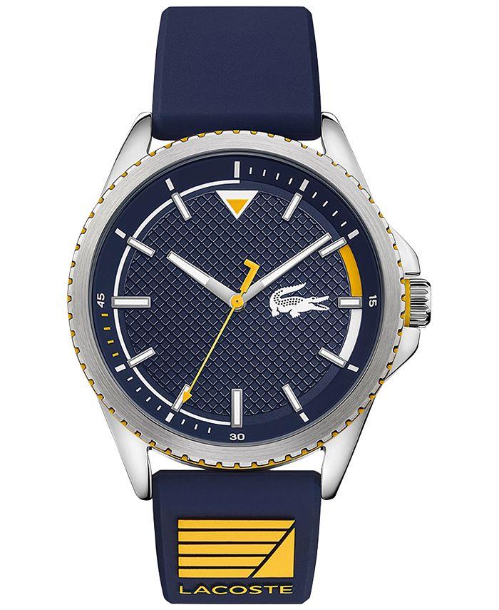 Lacoste - Men's Cap Marino Blue Silicone Strap Watch 44mm